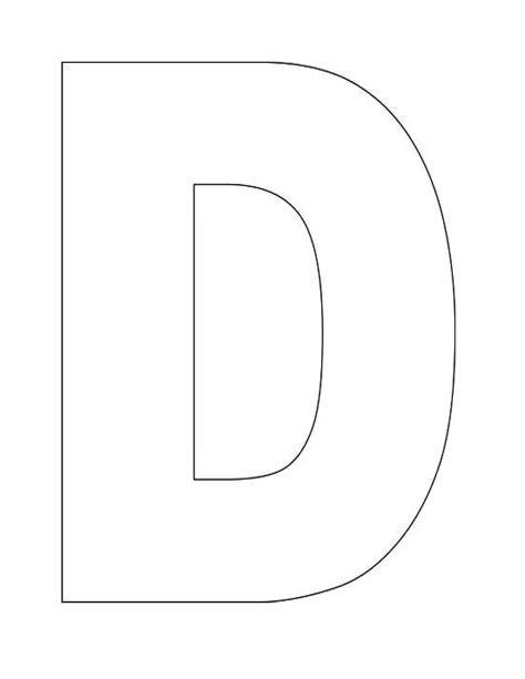 letter d template here s a simple alphabet letter d template for this letter d template for can be used