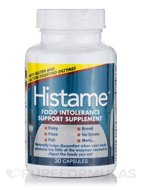 support cuisine histame food intolerance support supplement 30 capsules