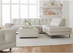 Lounge Furniture For Living Room by Simple Modern Minimalist Living Room Decoration With White Leather Sectional