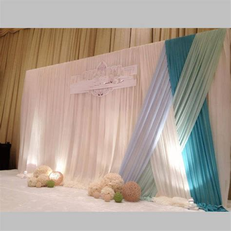 New Arrival Customer Designed Wedding Backdrop with Swag
