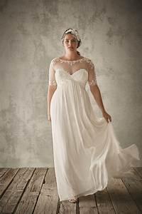 34 jaw dropping plus size wedding dresses weddingomania With short flowy wedding dresses
