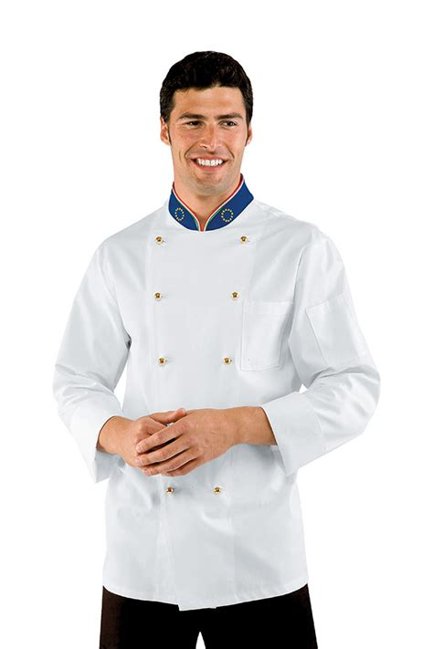 vetement cuisine veste chef cuisinier euroitaly vert blanc 100 coton