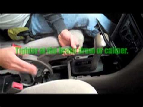 adjusting  hand brake   car youtube