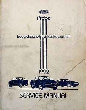 download car manuals pdf free 1992 ford probe instrument cluster 1992 ford probe original repair shop manual gl lx gt