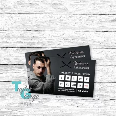 barbershop customer loyalty card