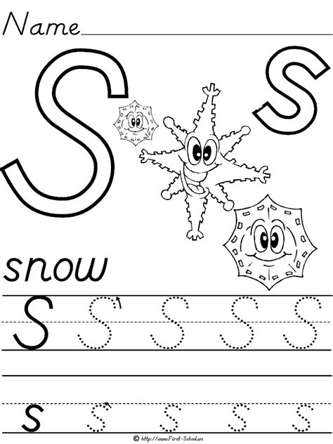 13 best images of snow worksheets for kindergarten 841 | preschool letter s writing worksheets 378367