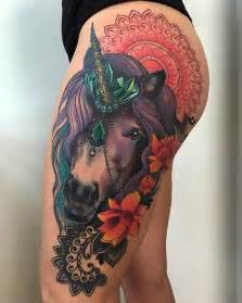 black flower 100 best unicorn tattoo designs for men and women