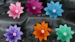 Blumen Basteln Vorlage : blumen basteln basteln mit papier wohndeko basteln einfach youtube ~ Frokenaadalensverden.com Haus und Dekorationen