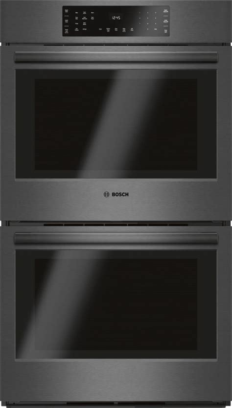 series  double wall oven black stainless steel eu convection touch control