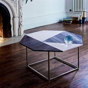 Marquetry marble coffee table west elm for West elm geometric coffee table