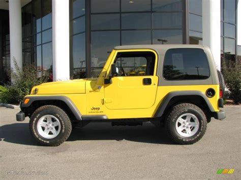 yellow jeep interior 2006 solar yellow jeep wrangler sport 4x4 16762595