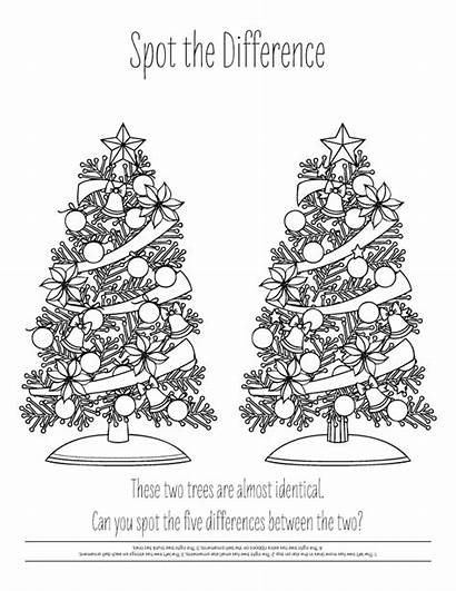December Holiday Coloring Pages Christmas Difference Spot