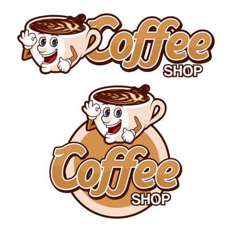Coffee logos designs can be flat and modern, which work well for attracting hipsters and millenials to your coffee bar. Premium Vector | Coffee shop logo template, with funny ...