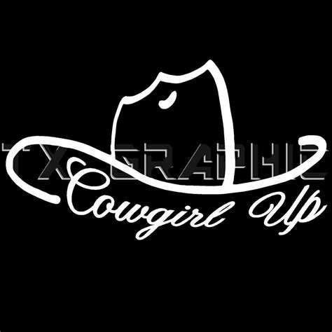 foto de COWGIRL UP DECAL COUNTRY GIRL VINYL STICKER WINDOW WESTERN