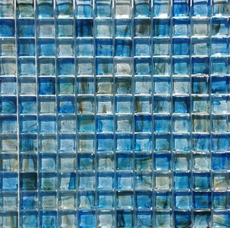 glass tile 12x12 clear glass mosaic tile stained blue 12x12