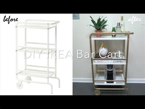 Interior Ikea Bar Cart Ikea Hack Diy Bar Cart Youtube