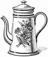 Teapot Tea Coloring Printable Drawing Kettle Pot Drawings Clipart Cliparts Cup Pots Clip Sketch Draw Coloringhome Adult Template Library Popular sketch template