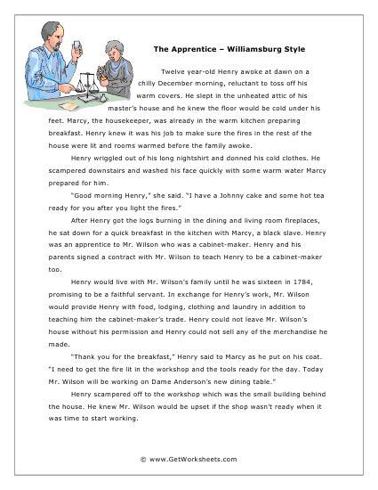 reading comprehension worksheets 6th grade mreichert