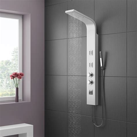 white shower panels thermostatic black or white shower column tower panel with