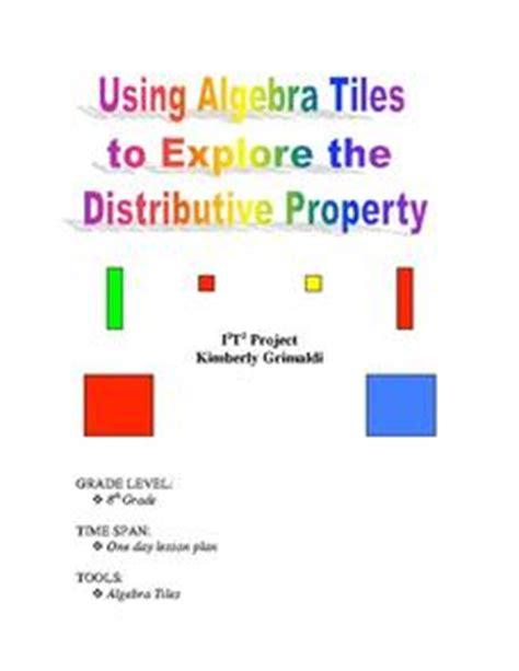using algebra tiles to explore distributive property 7th