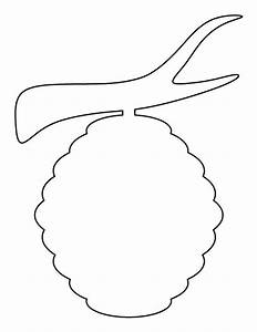 Beehive pattern. Use the printable pattern for crafts ...
