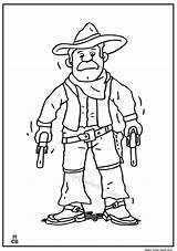 Coloring Pages Cowboy Printable Colouring Cowboys Getcolorings Oldman Bison sketch template