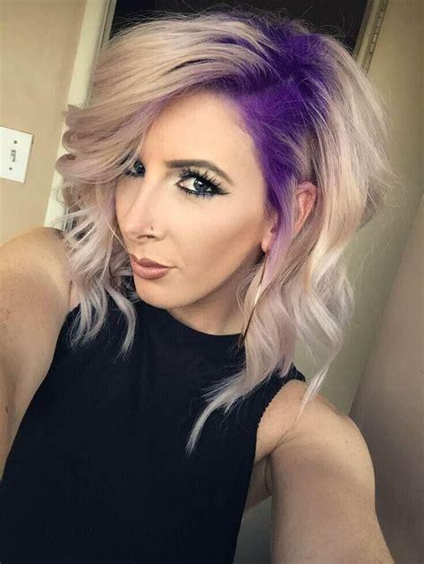 stylish hair color designs purple hair ideas