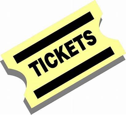 Ticket Yellow Illustration