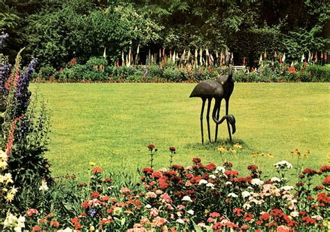 Botanischer Garten Bielefeld Plan by Flamingos Im Botanischen Garten G 252 Tersloh Kunstwerk Skulptur