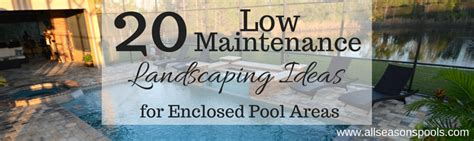 20 Low Maintenance Landscaping Ideas For Enclosed Pool