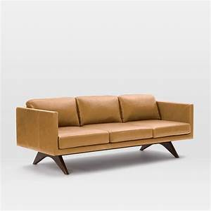 "Brooklyn Leather Sofa (81"") west elm"