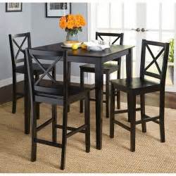Walmart Dining Room Sets Virginia 5 Counter Height Dining Set Black Walmart
