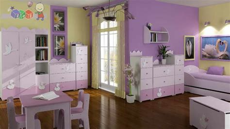 Painting Ideas For Kids Rooms With Wall Purple