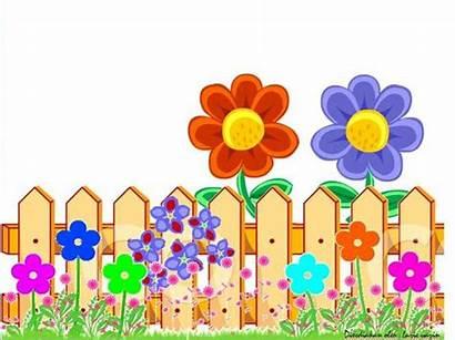 Fence Garden Border Clipart Clip Flower Frame