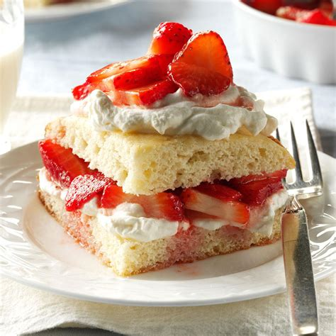 recipes for strawberries strawberry shortcake recipe taste of home