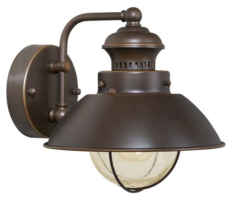 vaxcel harwich 8 quot outdoor wall light burnished bronze