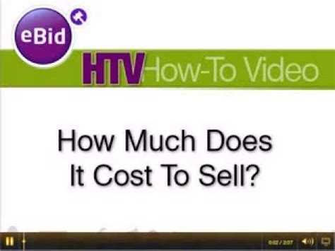 how much does it cost to sell on ebid