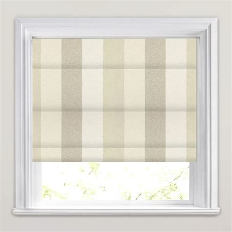 textured cream oyster beige striped roman blinds