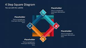 4 Step Square Diagram Powerpoint Template