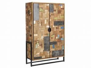 Schrank 100 X 50 : schrank im industriedesign kleiderschrank aus metall und holz breite 100 cm ~ Bigdaddyawards.com Haus und Dekorationen
