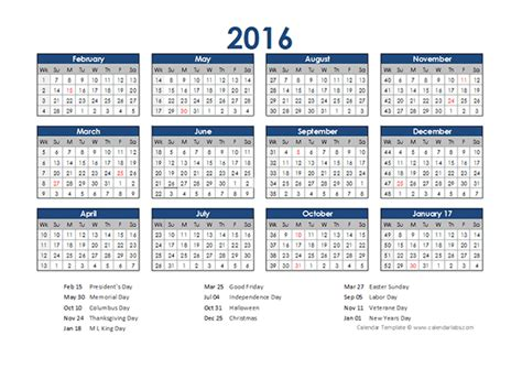 Retail Schedule Template by 2016 Retail Accounting Calendar 4 4 5 Free Printable