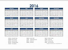 2016 Accounting Calendar 454 Free Printable Templates