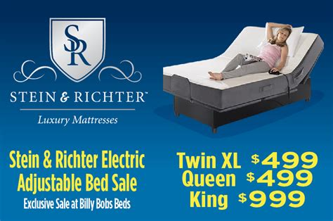 Bobs Adjustable Bed by Billy Bobs Beds And Mattresses Stein Richter Electric