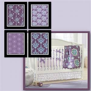 Purple and teal nursery decor wall art for the home