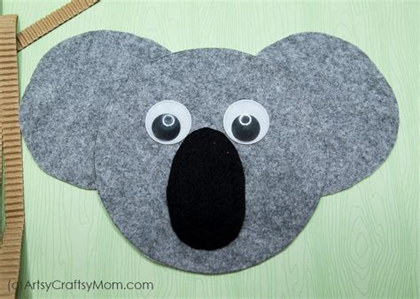 koala craft  printable template artsy craftsy mom