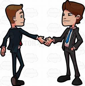 Two Business Associates Greeting Each Other Vector Clip ...
