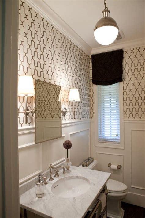 ideas  powder room wallpaper  pinterest