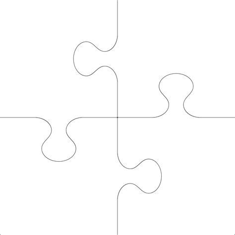 4 puzzle template puzzle 4 pieces clipart best