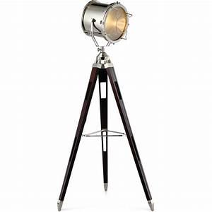 Lampadaire Salon Industriel : lampadaire tr pied noir industriel h 167 cm ~ Teatrodelosmanantiales.com Idées de Décoration