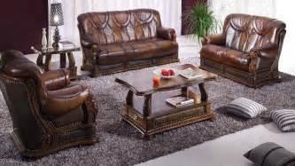 leather livingroom sets oakman leather living room furniture sofa set by esf neo furniture